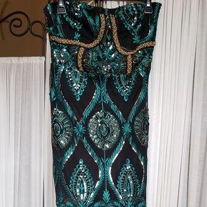 Detailed Sequin Dress
